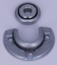 lager en lager kussen voor asproppen met 12 mm ronde stift